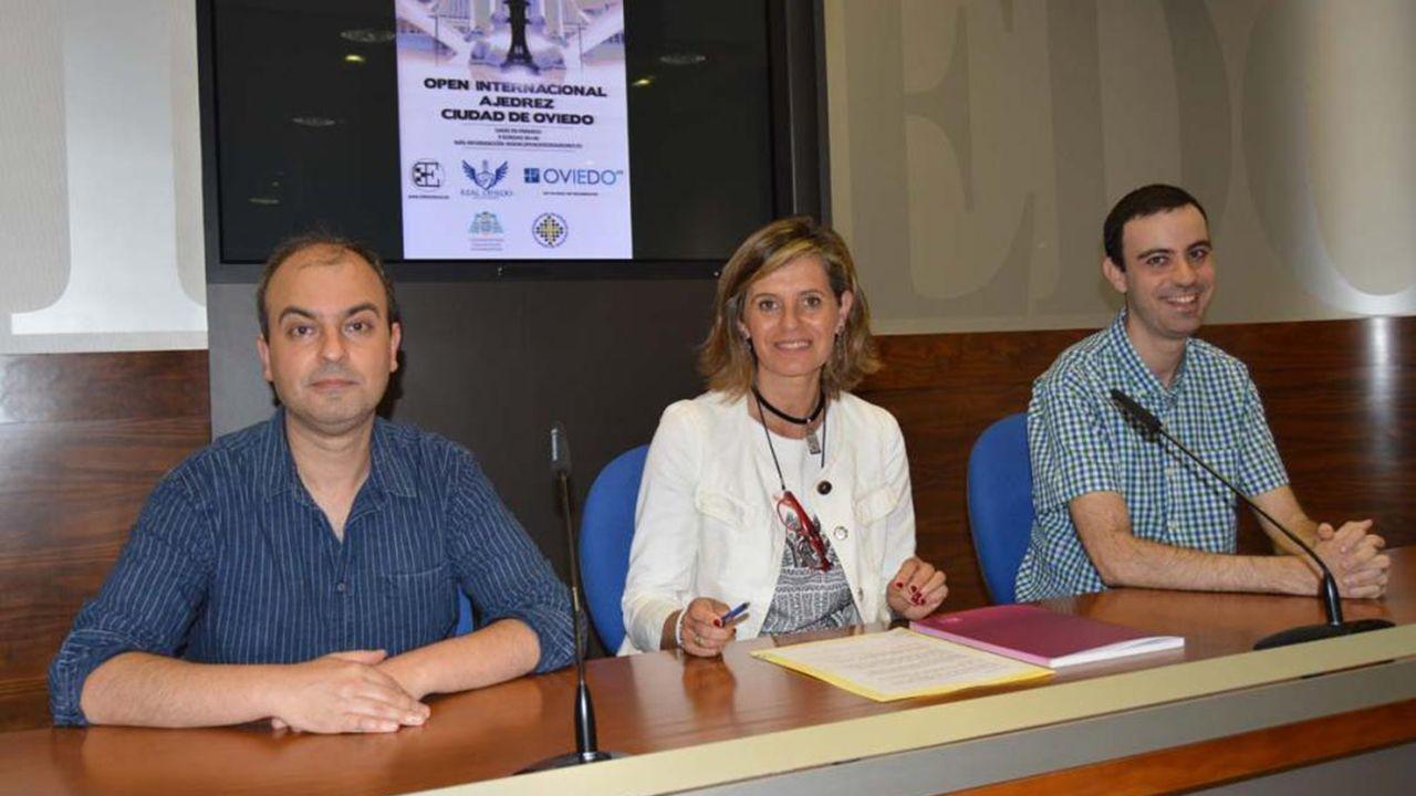 Grado de Deportes Mieres campus universitario instalaciones deportivas.Presentación del Open Internacional de Ajedrez