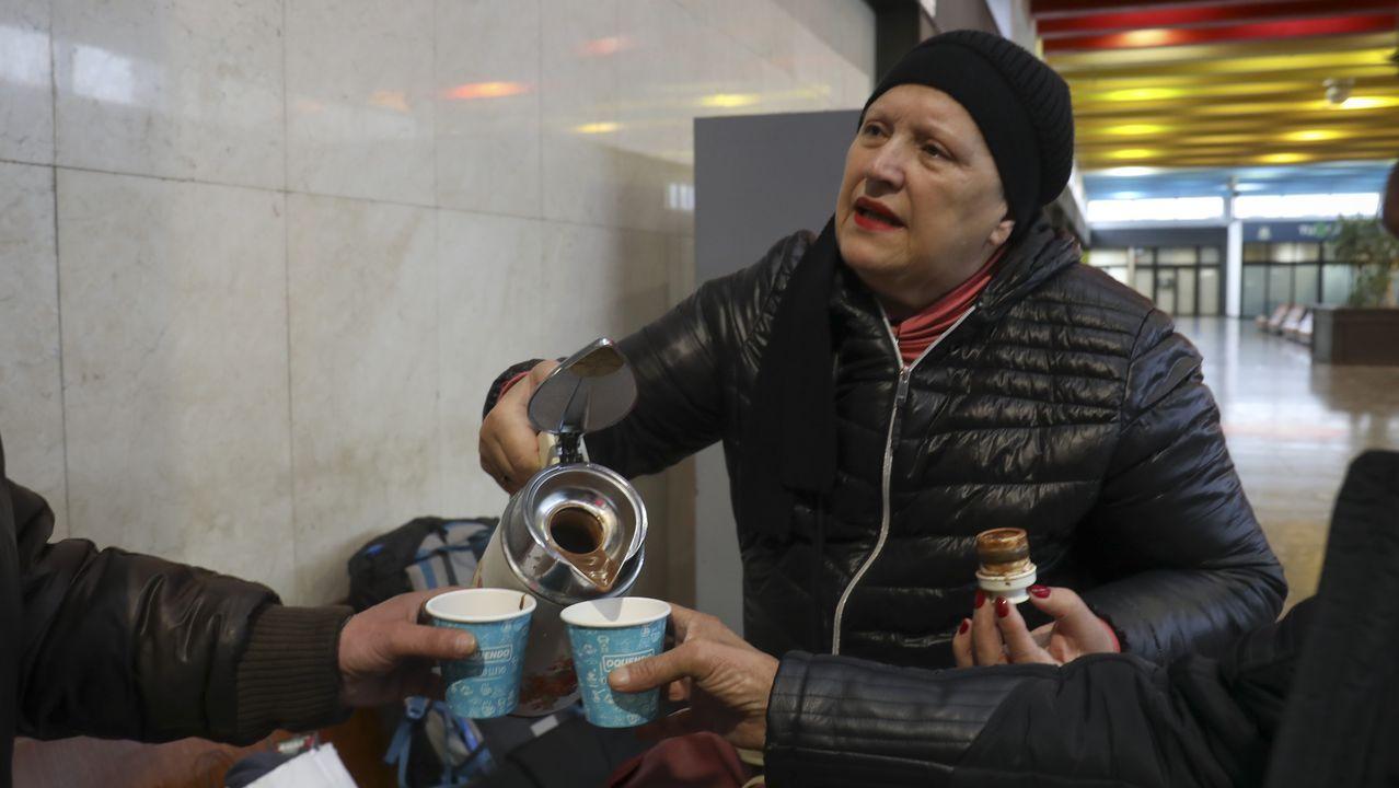 Chus no solo ofrece bebidas calientes, sino también algo de compañía
