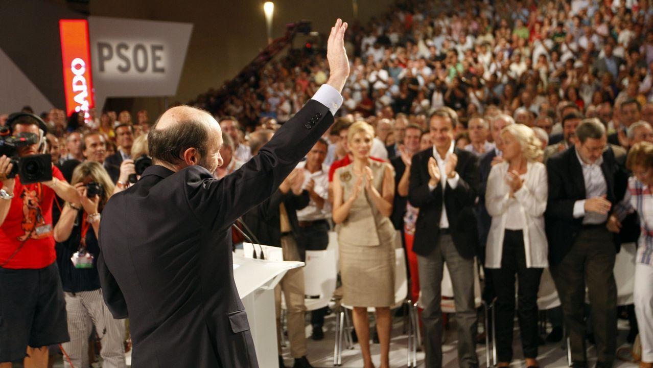 En julio del 2011 durante el comité federal en el que fue ratificado como candidato del PSOE a la presidencia del Gobierno