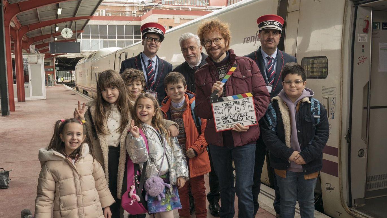 Los protagonistas de «¡A todo tren! Destino Asturias»