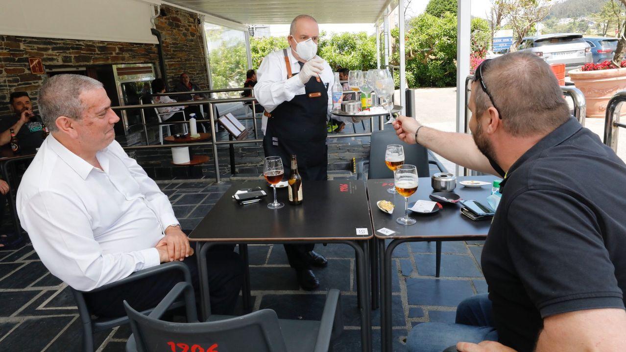 Restaurante Louzao de Viveiro, uno de los muchos establecimientos hosteleros donde han reforzado la protección contra el coronavirus