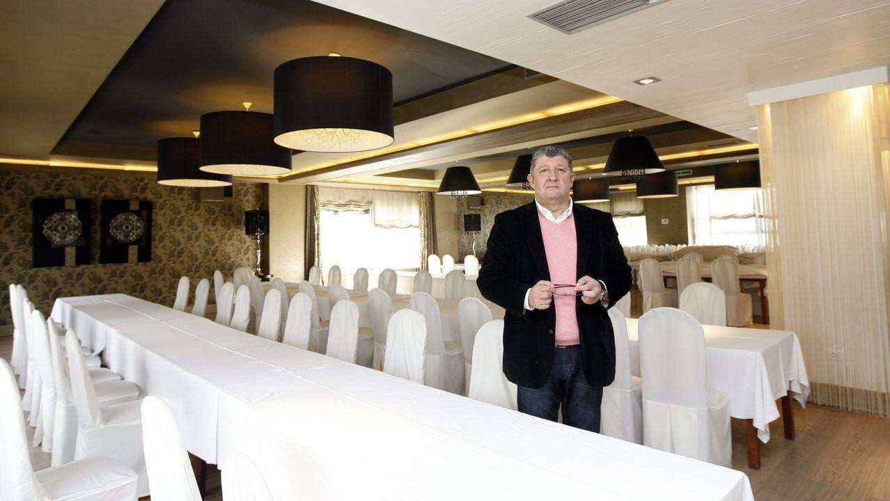 El Louzao de Area (Viveiro), en imagen, tuvo que aplazar el sábado una boda de unas 200 personas, además de varias comidas