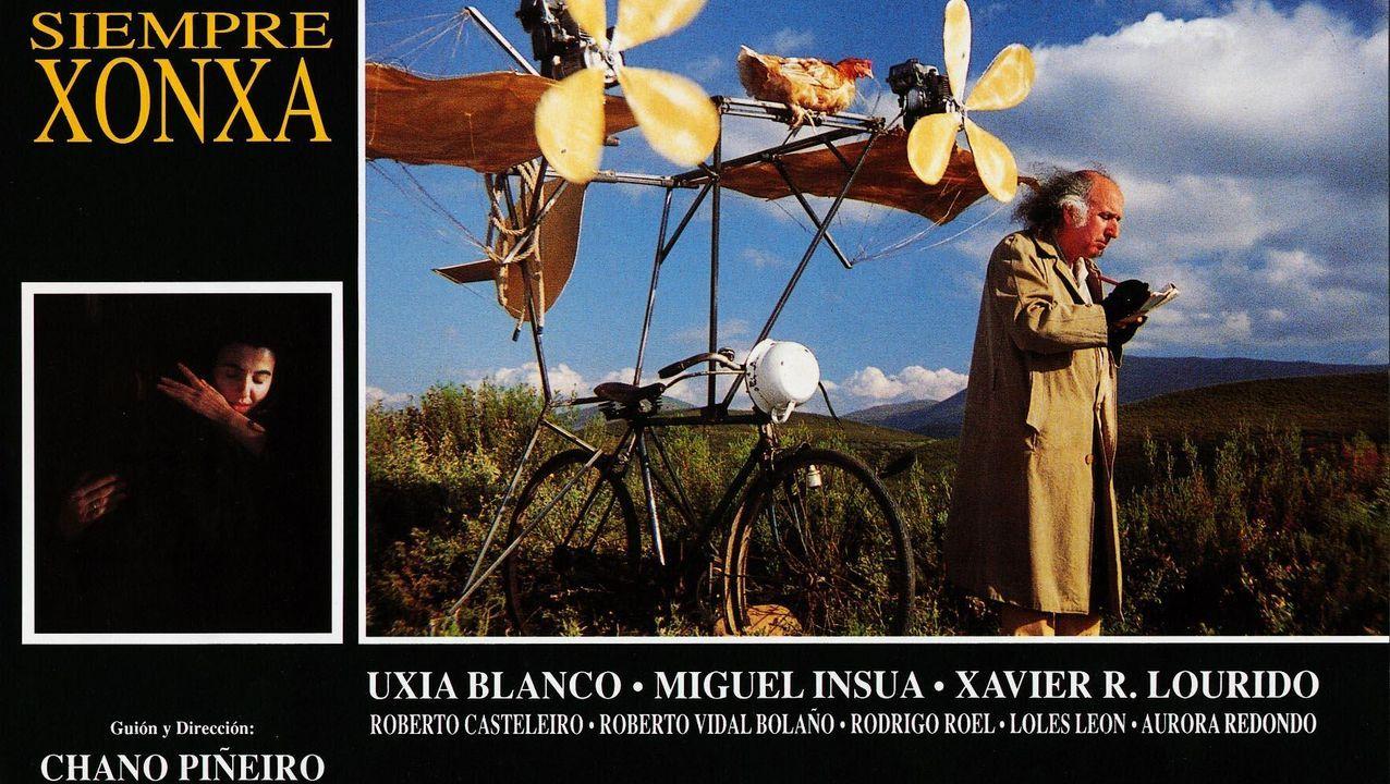 Detalle dun dos carteis promocionais de «Sempre Xonxa», estreada en 1989