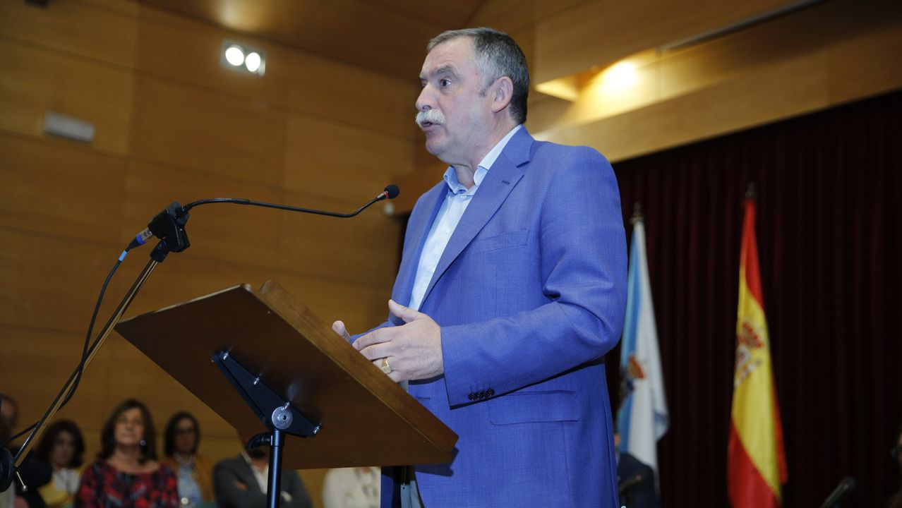 Tráfico, carreteras, señal.Imagen de archivo del alcalde de Oleiros, Ángel García Seoane