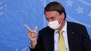 Bolsonaro, en un acto en el palacio presidencial el pasado martes.