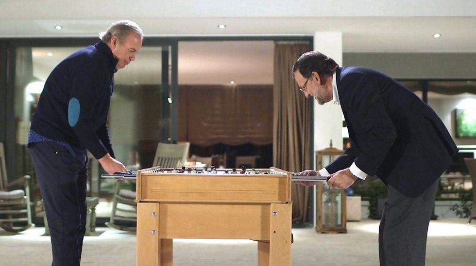 El elenco de «Julieta» se pasea por Cannes.Un momento de la entrevista de Bertín Osborne (ahora en Mediaset) al presidente del Gobierno Mariano Rajoy.