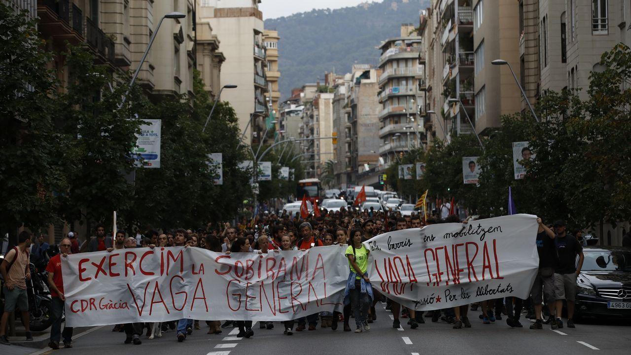 Huelga en Cataluña. Manifestación de Arran, organización juvenil vinculada a la CUP