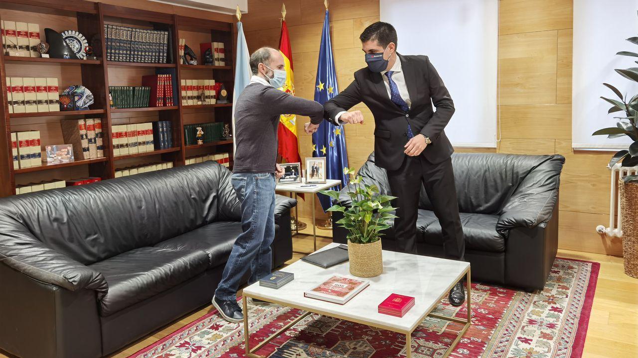 Reunión del delegado de la Xunta y el alcalde de Ourense