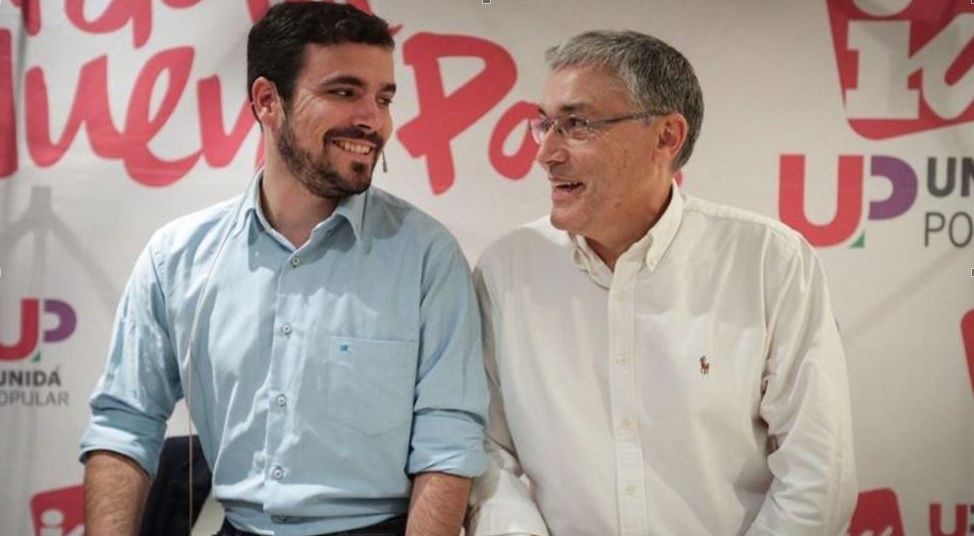 Alberto Garzón y Manuel González Orviz.