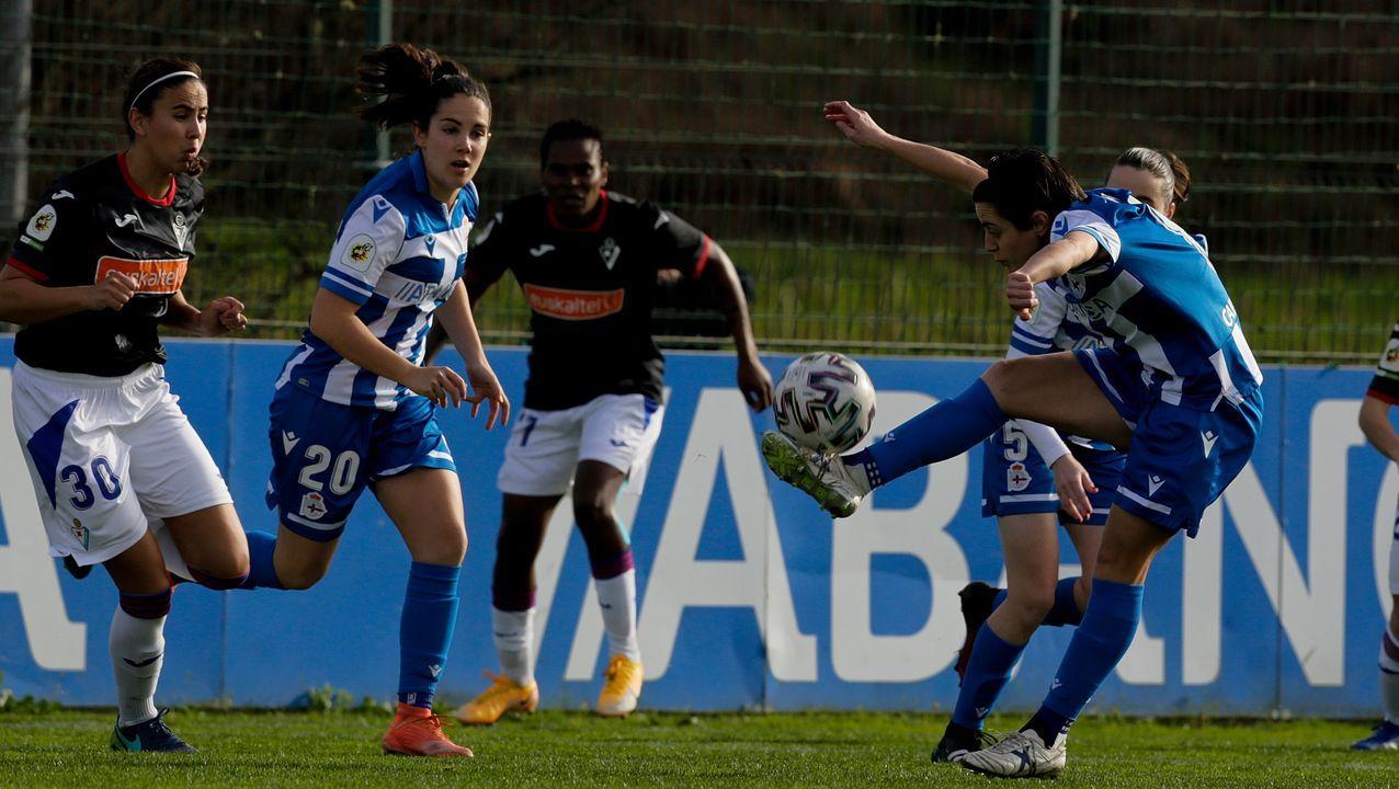 Eneko Bóveda, en la ciudad deportiva de Abegondo