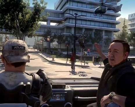 El personaje de Spacey, en una escena de acción típica del videojuego.