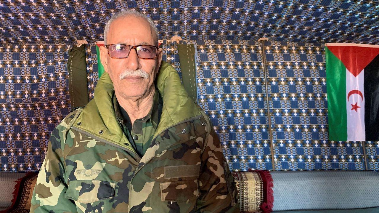 El líder del Frente Polisario, Brahim Gali