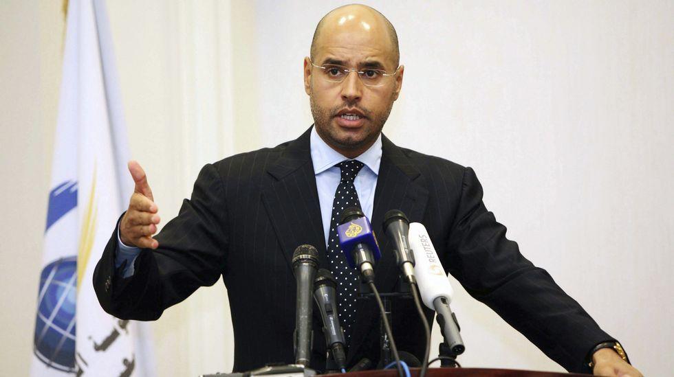 El hijo del exlíder libio Muamar Al Gadafi, Seif Al Islam.
