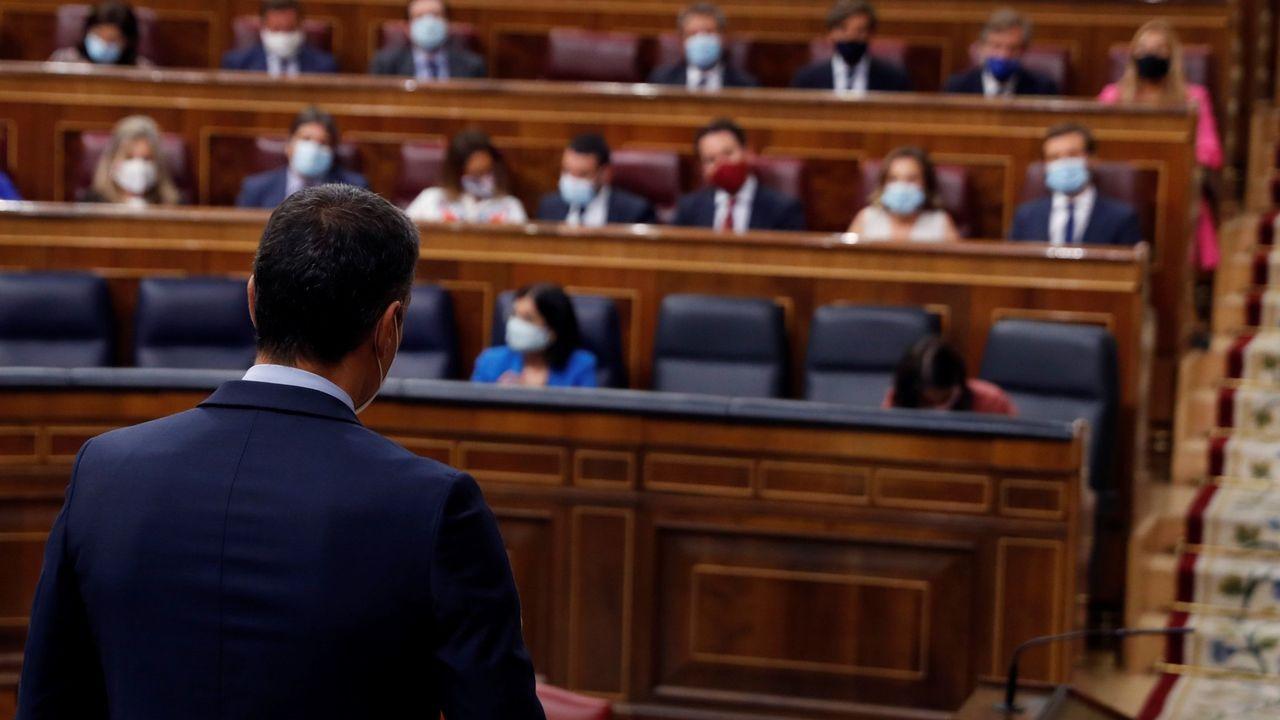 En directo |El Tribunal Supremo revisa la inhabilitación de Quim Torra.Sánchez, durante la sesión de control al Gobierno en el Congreso del pasado miércoles