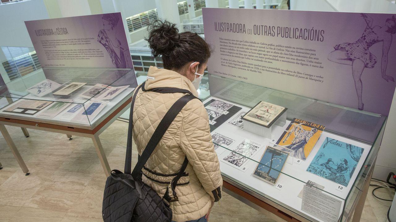 El 8-M en Deza y Tabeirós.A mostra reúne fotos, debuxos orixinais, cartas, borradores de publicacións e outros materiais inéditos