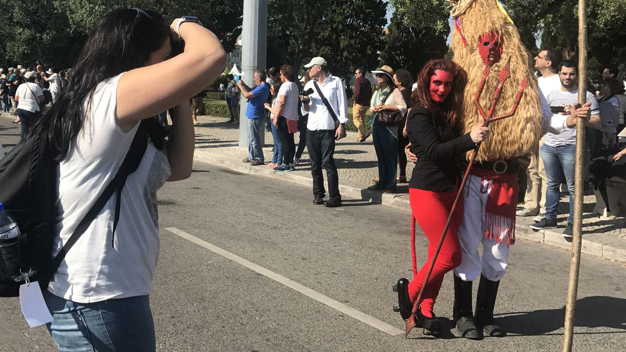 El diablu también hizo de las suyas durante el desfile de Belém