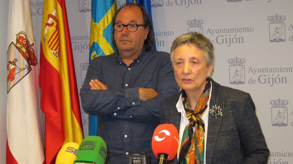 Enriqueta Ortega y Mario Suárez