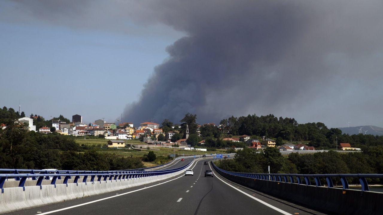 Incendio en Leiro (Rianxo) producido en el año 2018