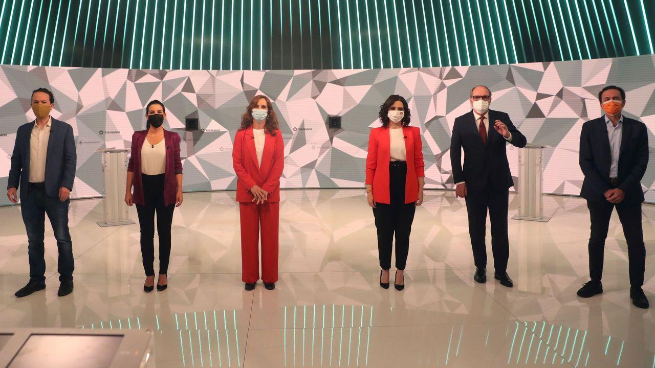 En directo: Debate a seis entre los candidatos de Madrid.Garamendi, consejera de Gobernanza; el vicelendakari Erkoreka e Iceta, ministro de Política Territorial salen de la Comisión de Transferencias