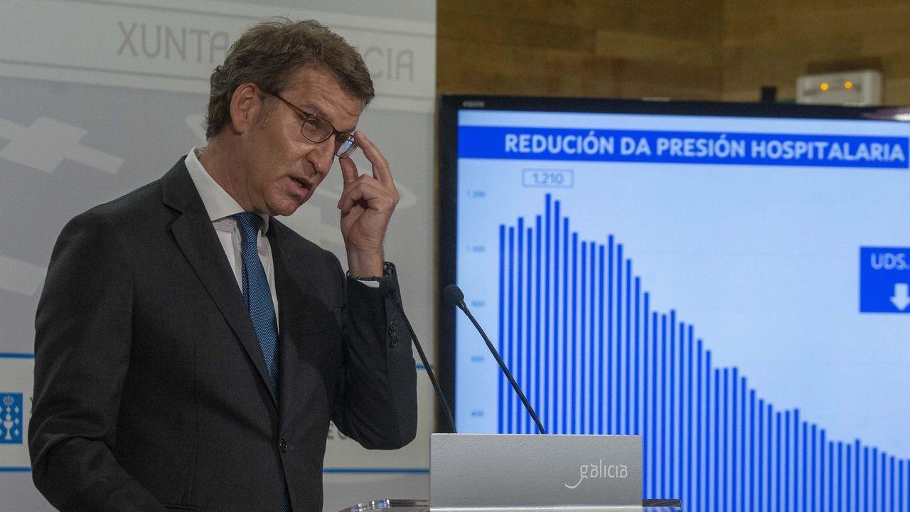 En directo: Feijoo comparecepara informar de las medidas acordadas en el comité clínico.Medidor de CO2 en la Taberna da Galera, en A Coruña