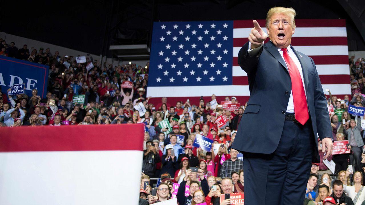 Cierre de la campaña republicana, anoche en Ohio