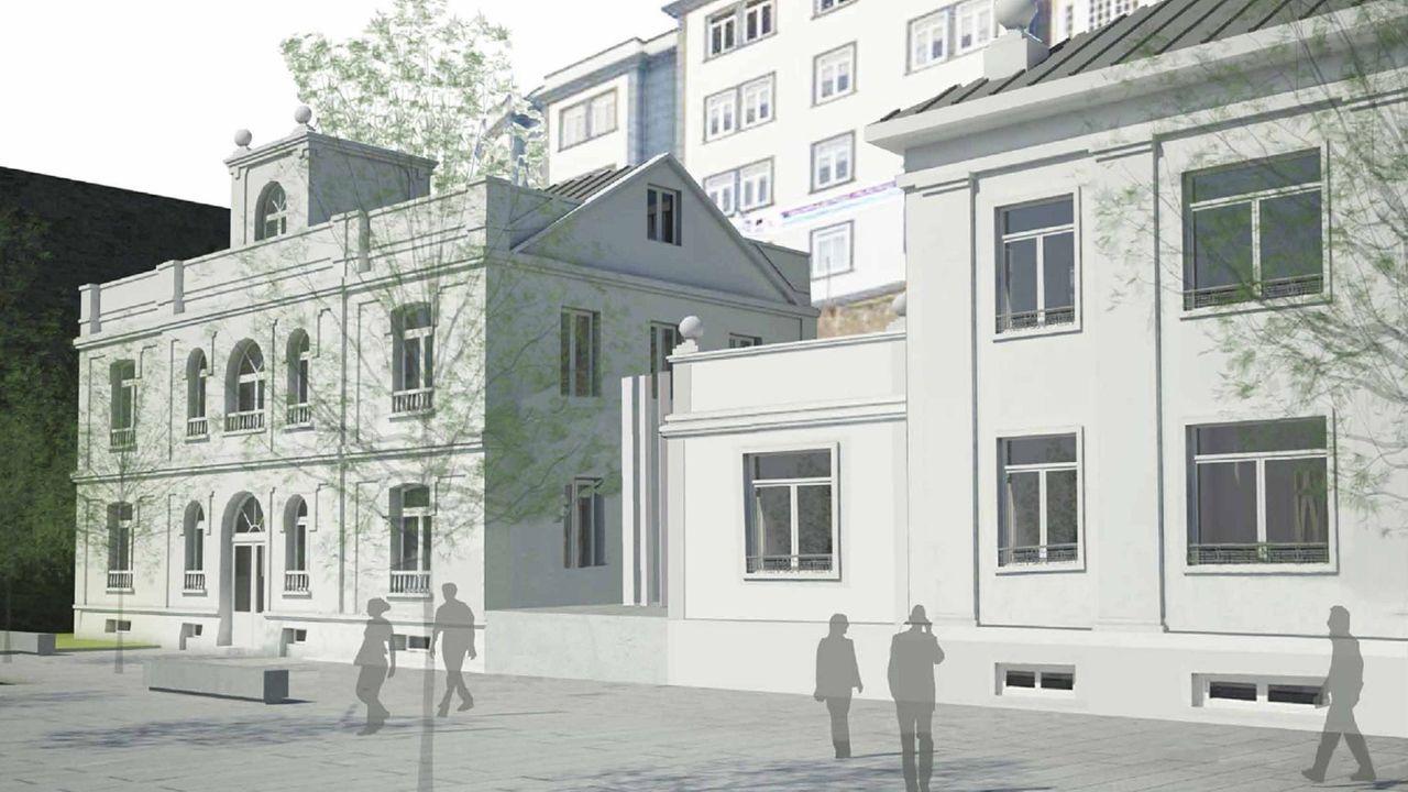 Recreación de cómo quedará la sede del Puerto de Ferrol después de la reforma