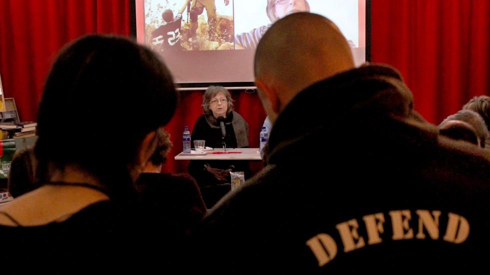 Liliana Córdova, en un momento de su charla en Gijón