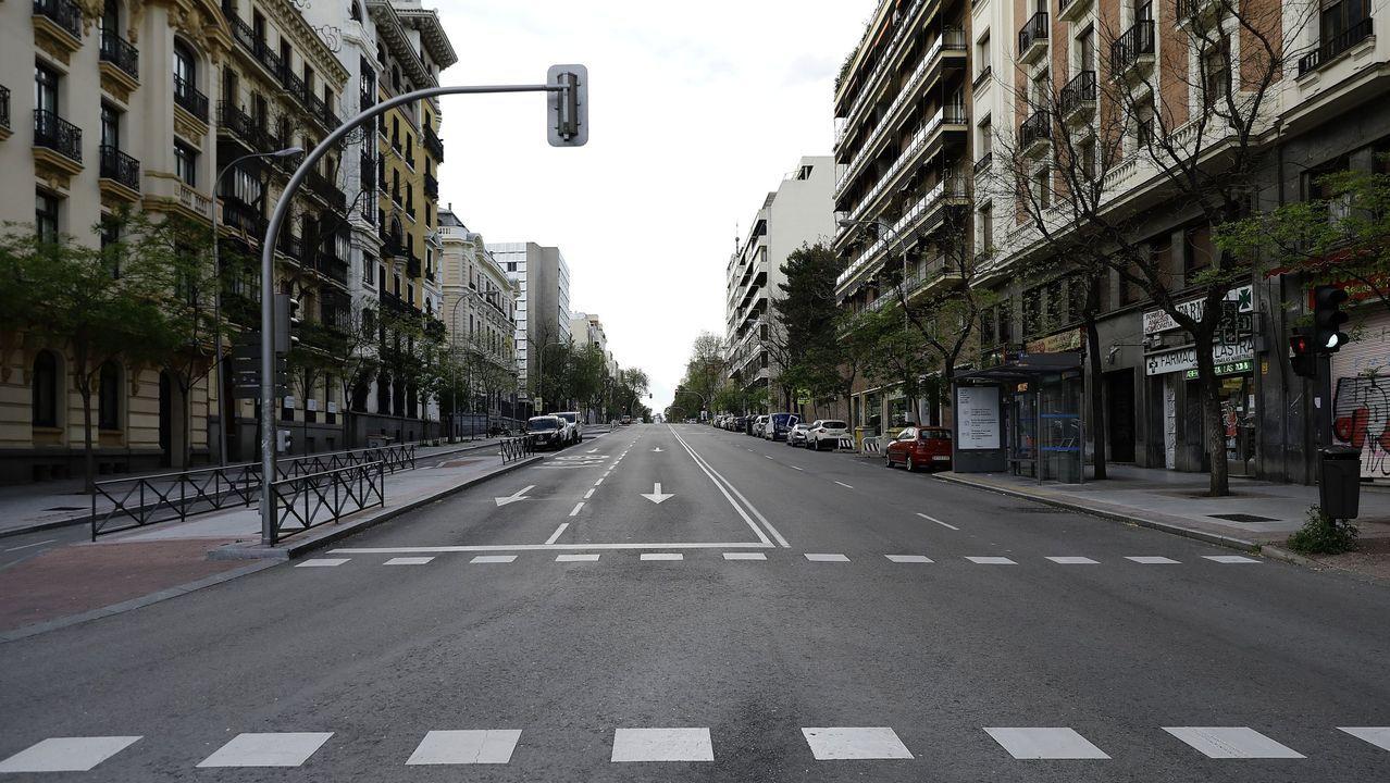 Calles vacías en Madrid durante el confinamiento / E. PRESS.Calles vacías en Madrid durante el confinamiento / E. PRESS