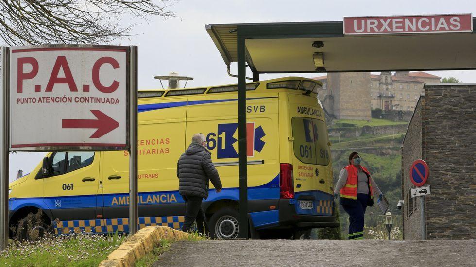 El ciclista herido este domingo en Ribas de Sil fue trasladado al hospital de Monforte
