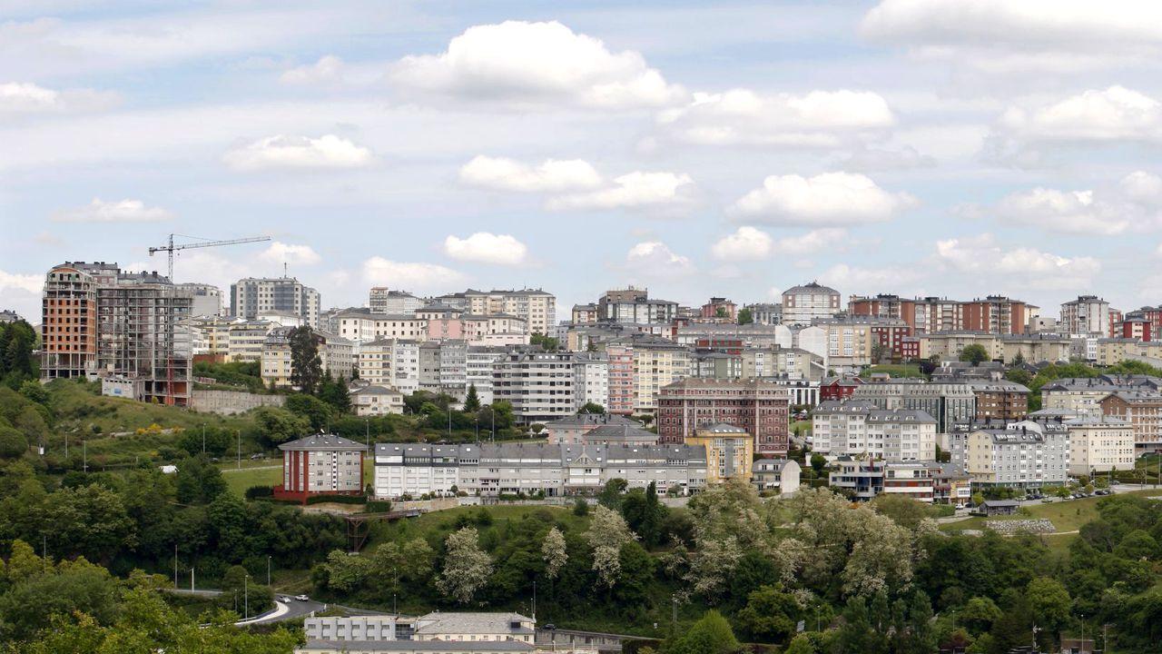 Vista de la ciudad de Lugo desde su periferia