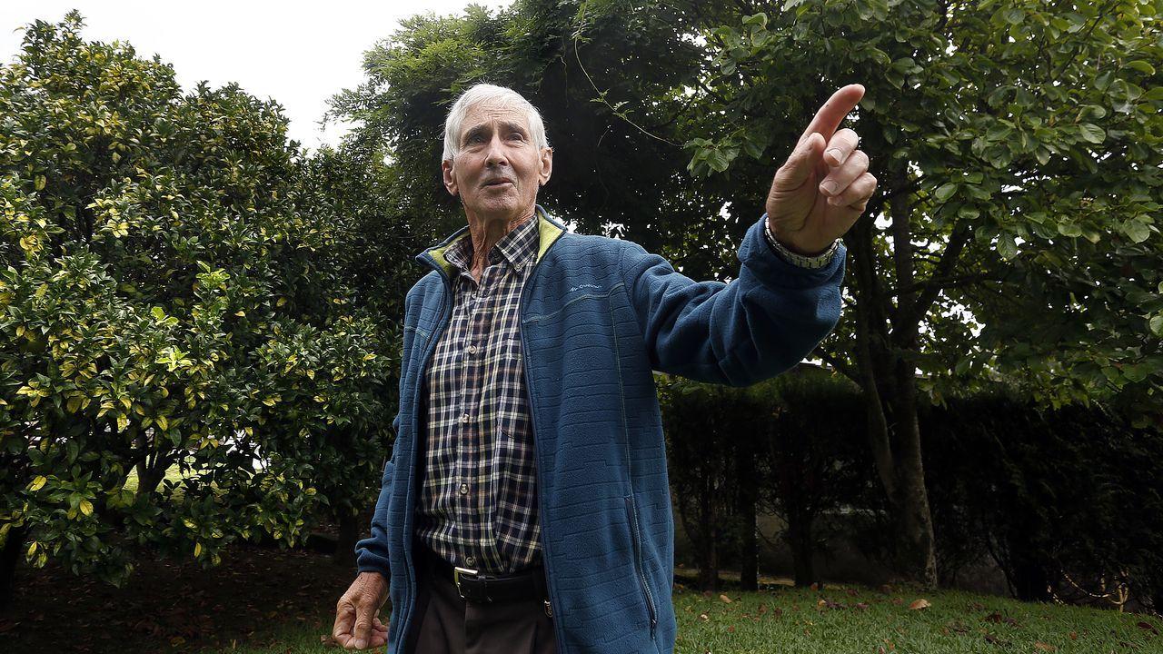 El pobrense Diego Míguez se recupera en su casa del ataque de velutinas sufrido hace una semana