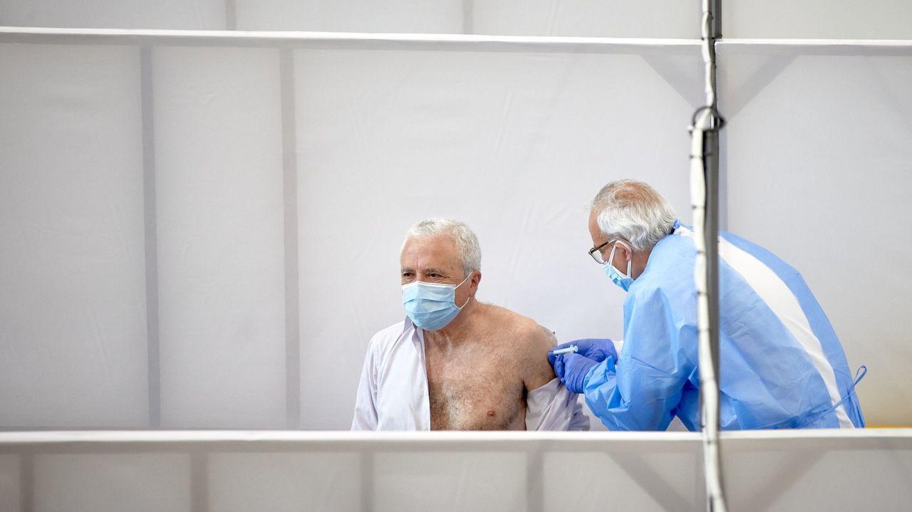 El investigador científico Amando Ordás mostrando un cultivo del banco de germoplasma