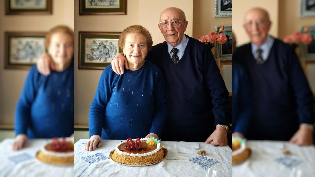 Luz Casal les cantó a Cholín, de 92 años, y a su mujer Carmiña, de 90