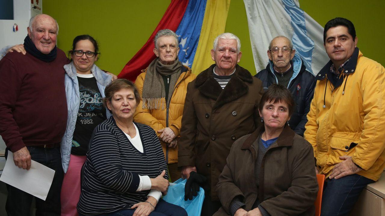 Un grupo de ourensanos retornados desde Venezuela