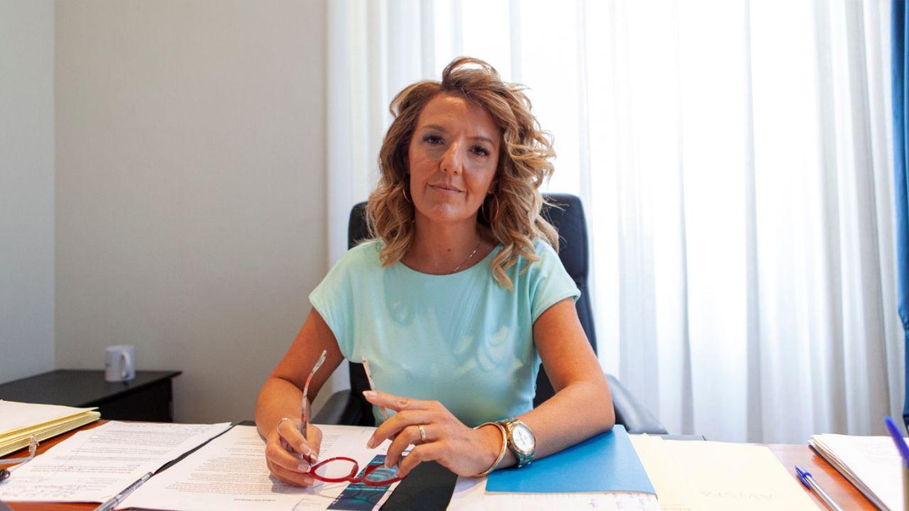 La portavoz del grupo parlamentario del PP en la Junta General, Teresa Mallada