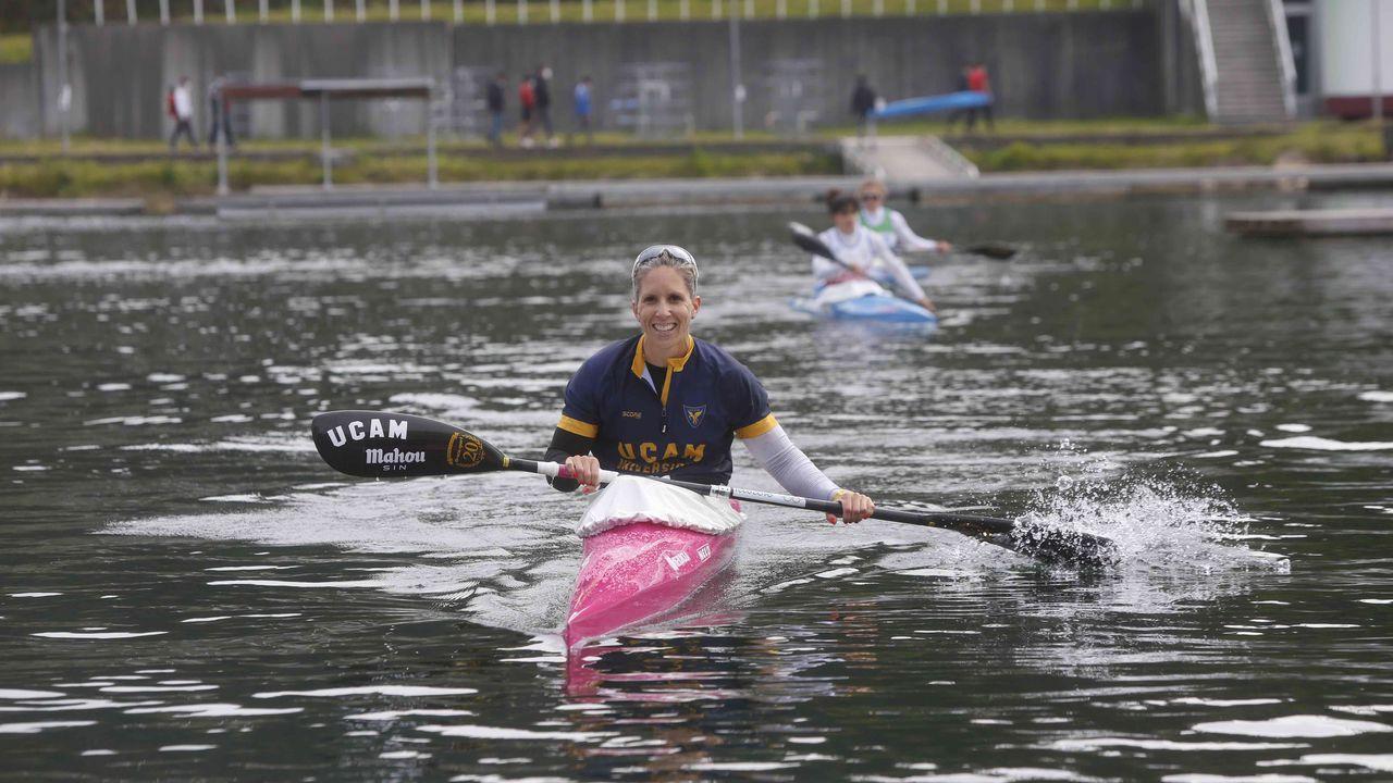 La palista gallega sonríe tras conseguir su sexta clasificación olímpica