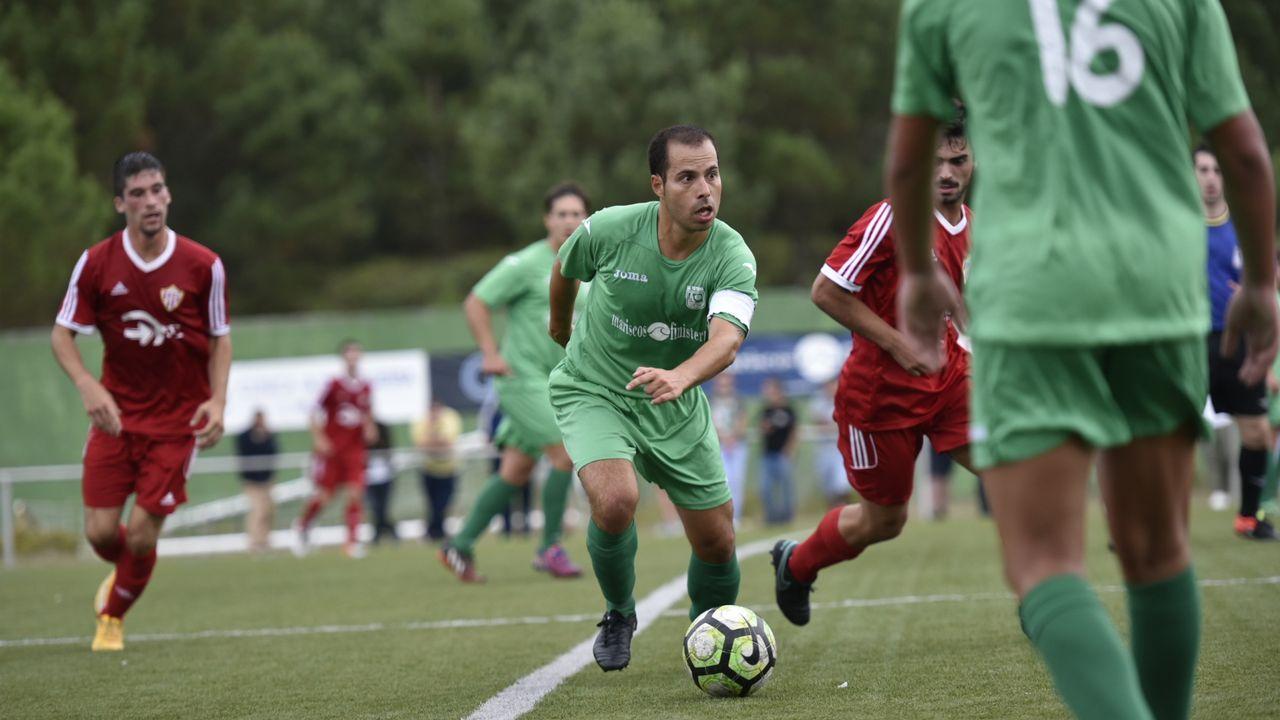 Imagen tomada durante el Vetusta - Sporting B de la 16/17