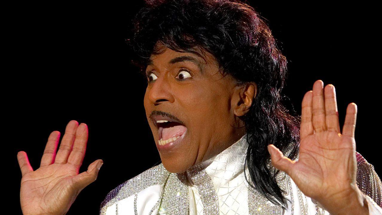Little Richard, en un directo en Gijón en el 2005, el último concierto ofrecido en España