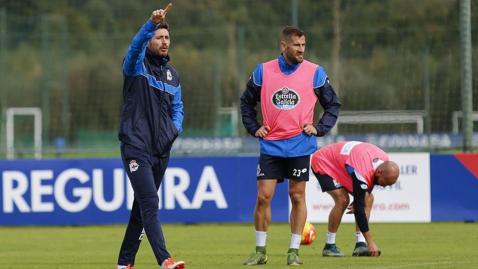 El encuentro amistoso Deportivo-Fabril, en imágenes.Lucas, durante un entrenamiento