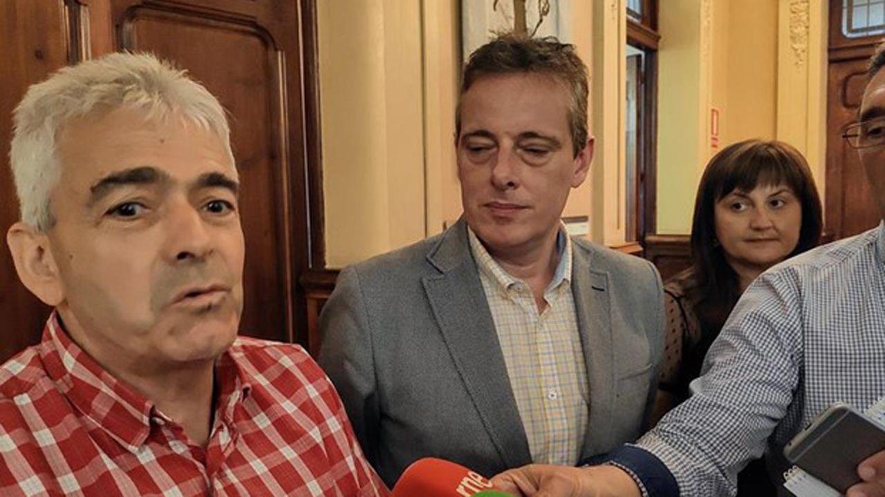 Belarmino Fernández y Marcelino Marcos