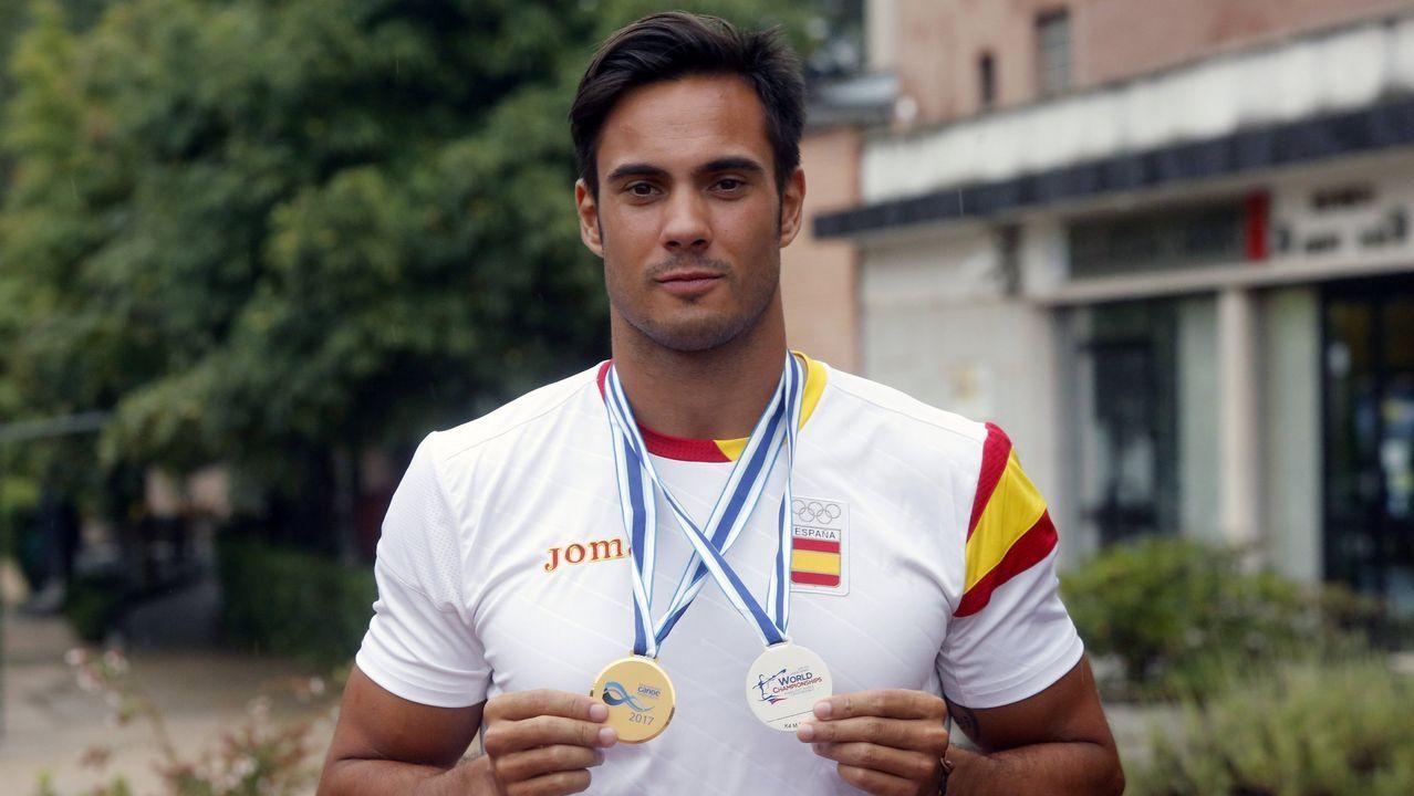 Rodrigo Germade. También ganó el oro europeo y la plata mundial con el K4 500 de Toro. Un barco que aspira a todo.