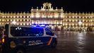 Plaza Mayor de Salamanca el sábado, primera noche con toque de queda en Castilla y León