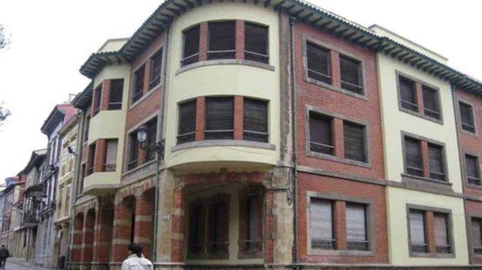 Uno de los edificios, en Avilés