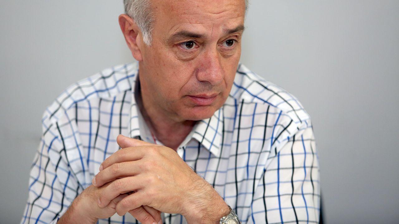 Gonzalo Durán acusa de corrupción a Carmela Silva.Camps, durante la presentación de la prueba automovilística que le costó su última imputación