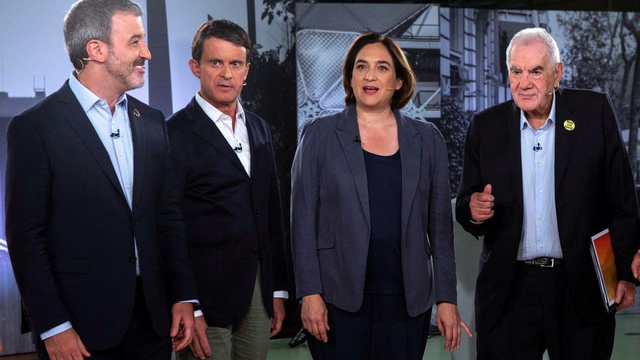 Álvarez de Toledo incendia la campaña cuestionando a Rubalcaba.Ernest Maragall, de ERC, durante la jornada electoral del 26M