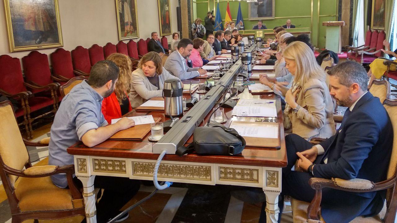 Pleno del Ayuntamiento de Oviedo para votar la composición de las nuevas comisiones