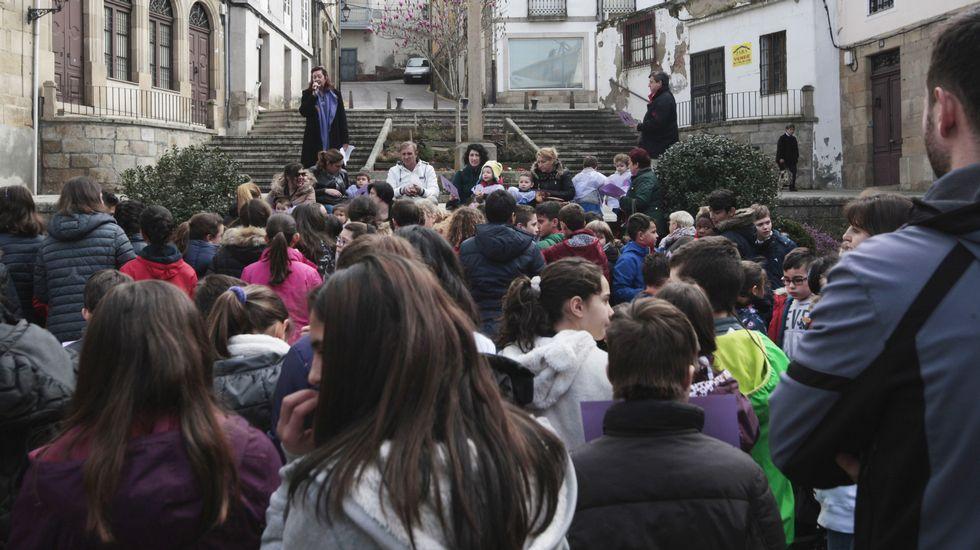 Manifestación en Monforte