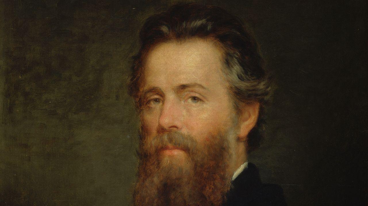 Detalle del retrato del escritor Herman Melville que en 1870 realizó el pintor estadounidense Joseph Oriel Eaton