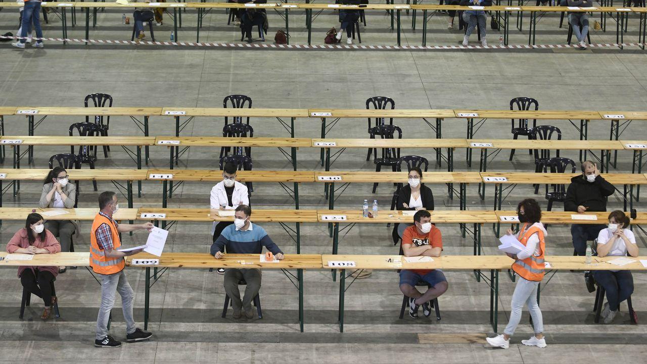 Momento de la prueba en unas oposiciones celebradas el pasado junio en Silleda