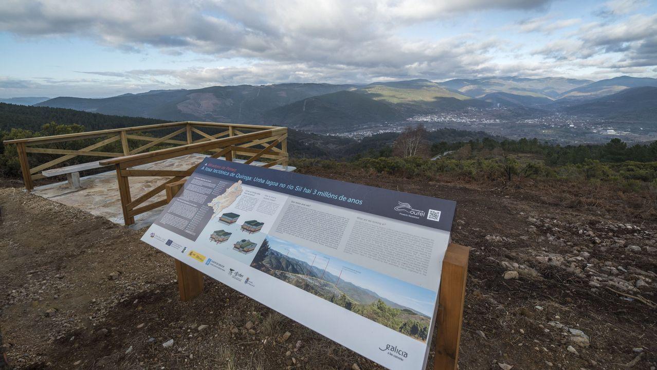 Mirador geológico de A Pómez, en la carretera de San Clodio al Alto da Moá, en el municipio de Ribas de Sil